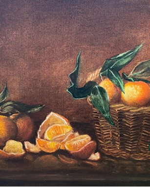 Корзина с мандаринами